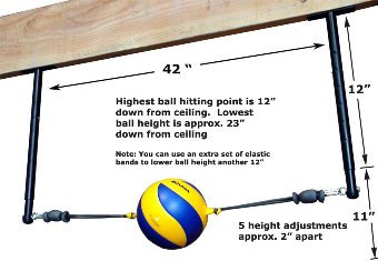 Volleyball Spike Trainer. Model # VST-500 (Ceiling Mount)